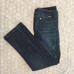 WHBM blanc rhinestone embellished Jeans Size 8